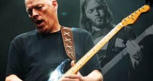 David Gilmour Now, and behind him, David Gilmour then