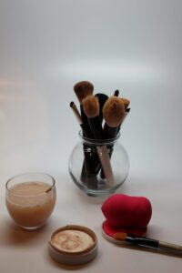 let brushes and beauty blender dry, also leave lid off cleansing bar and let that dry too!