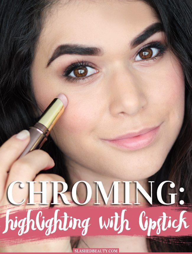 lipstick application for chroming technique