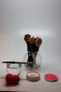 rinse soap and dirt off brush and let dry