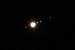 Jupiter and his four major moons.