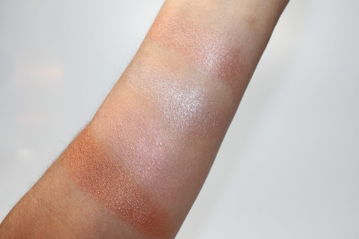 Swatches of the Mac Mineralize Skin Finish in Other Earthy
