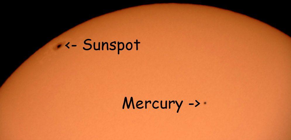Mercury's shadow moved across the sun