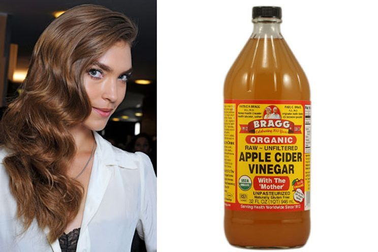 ACV is good for your hair, it smooths it, and helps control dandruff