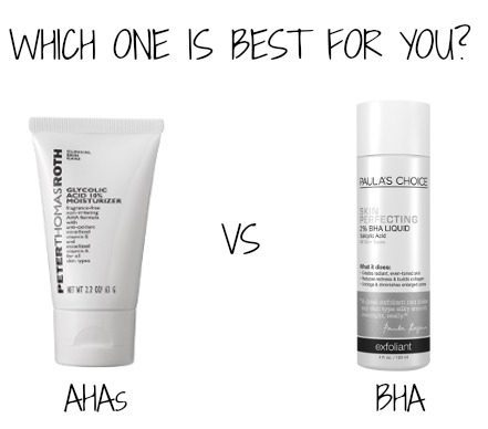 If you are treating surface issues, use AHA products