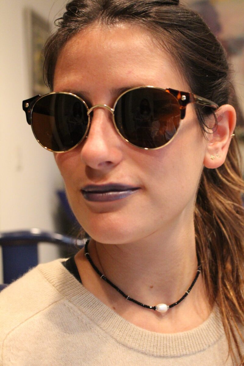 How gorgeous is she? Don't you love the blue lips?