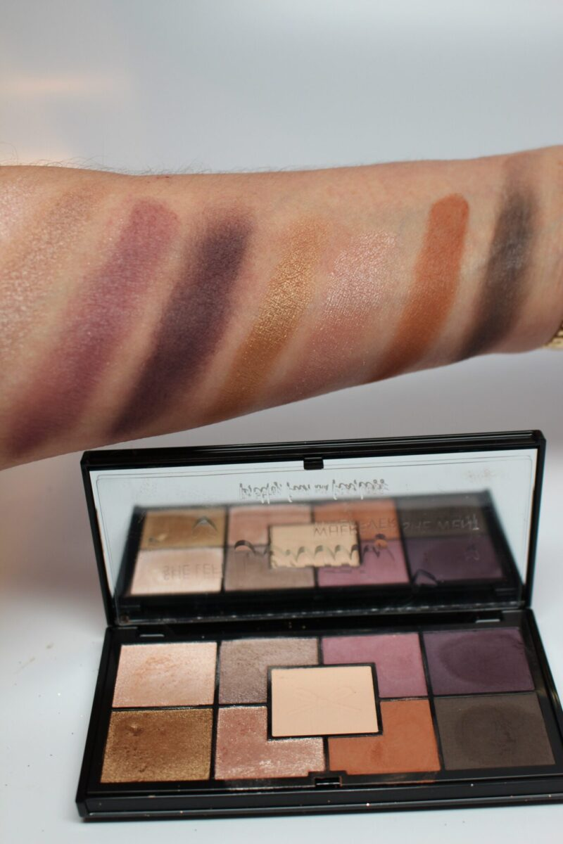Swatches for Ciate Pretty Palette