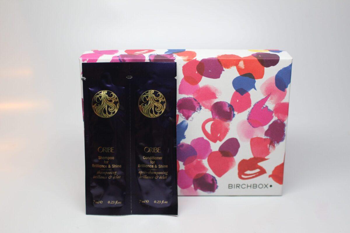 Oribe shampoo and conditioner sample in Birchbox