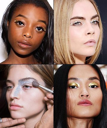 fall-2016-makeup-from-newyork-fashionweek-glitter-eye-trend