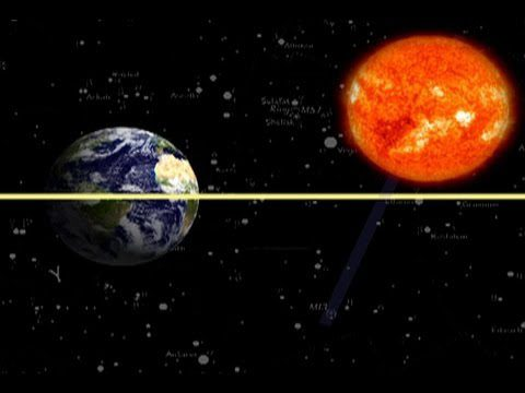 fall-sunlight-rays-of-sun-through-equator