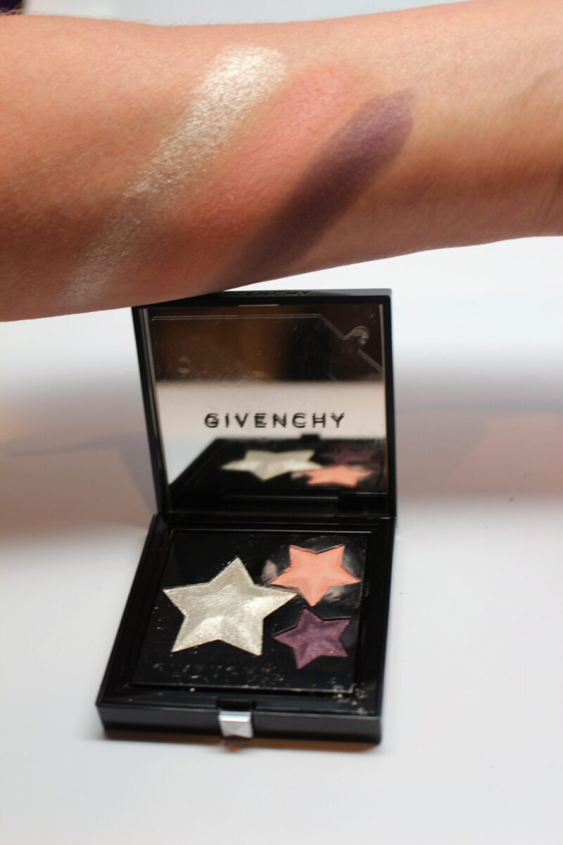 Givenchy-Le-Prism-Superstellar-eye-shadow-palette-three-shade swatches