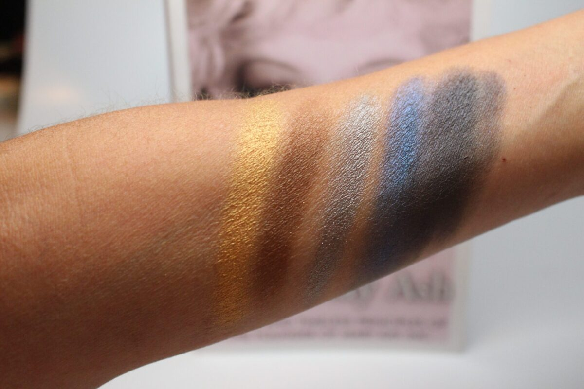 swatches from 5 color Palette Rock the Runway