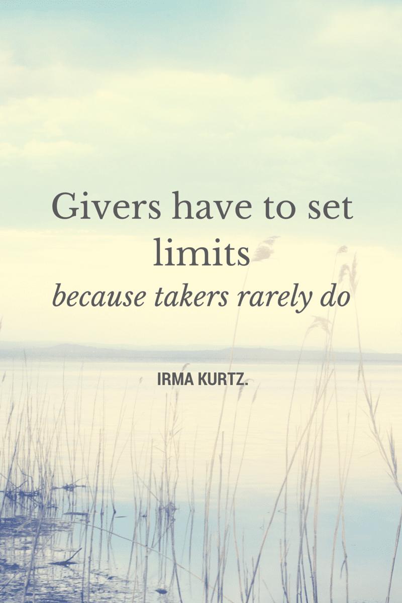 givers-have-to-set-limites-ellen-jackson
