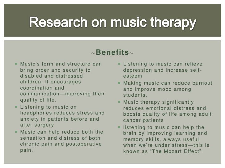 Music Therapy Research For Stress