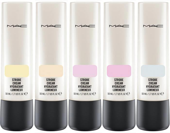 The five strobe shades are Goldlight Peachlight, Pinklight, Redlight and Silverlight
