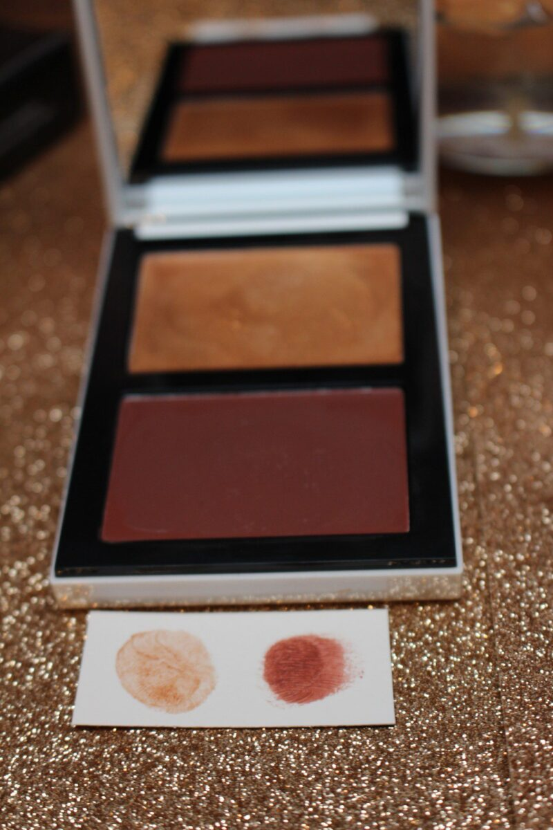 Bronze Sun Cream Highlighter and Milk Chocolate Pot Rouge for cheeks and lips