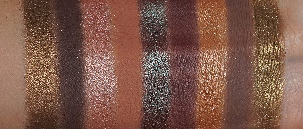 swatches of warm shades