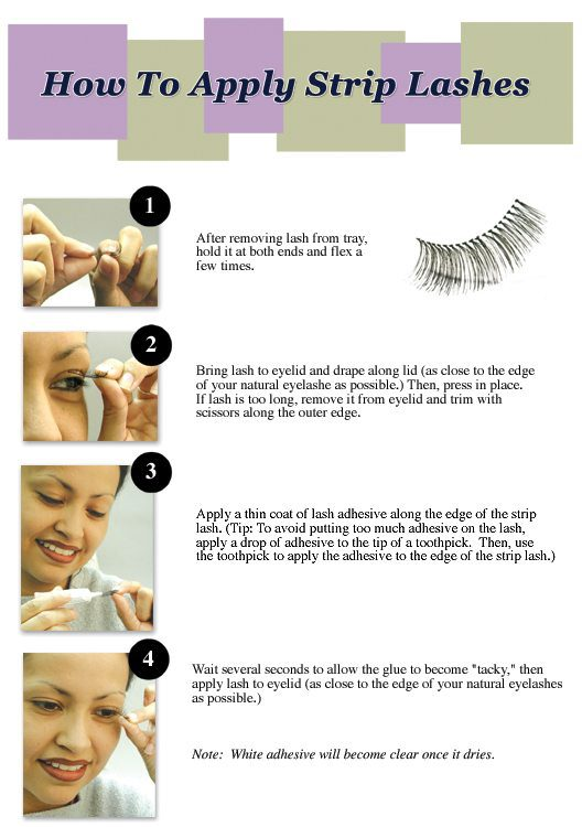 Tips And Simple Tricks Learning How To Apply False Eyelashes