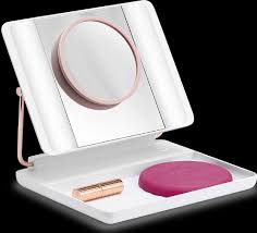 Spotlite-HD-professional-makeup-mirror-with-LED-Lights-rechargeable-no-cords-two-magnification-mirrors-attatch