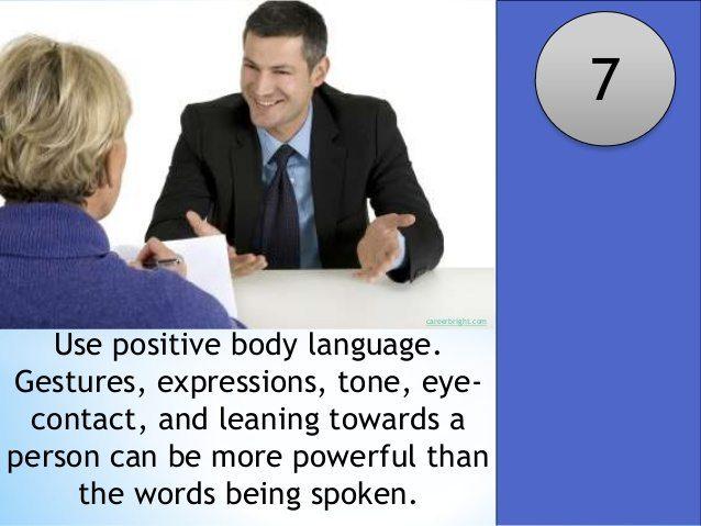 Interpersonal & Written Communication Skills  |Positive Body Language