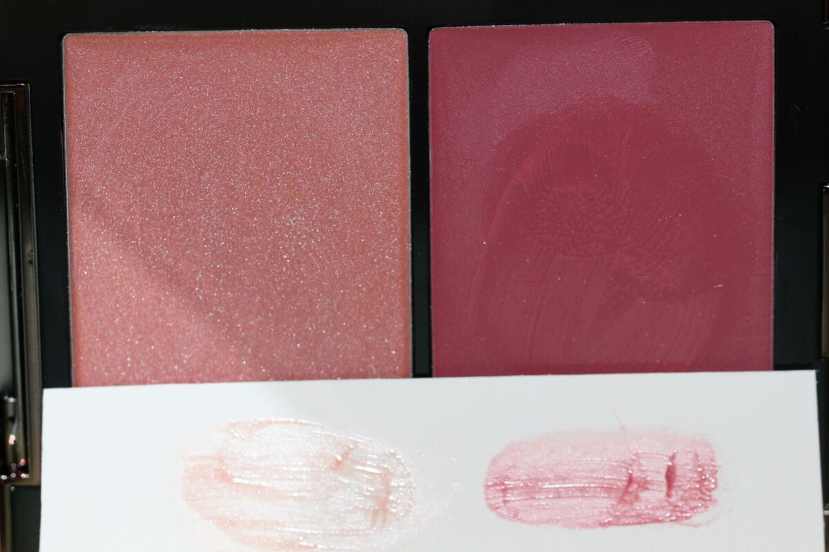 Sublimate shades are extremely sheer - swatches on white paper
