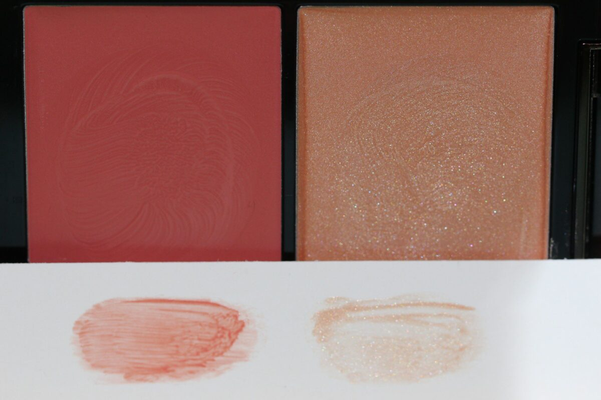 swatches on white paper