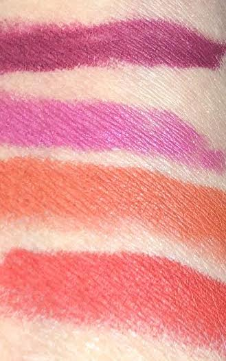SWATCHES TOP TO BOTTOM: DESTROYER, GREASER, FIRE ME, AND MIAMI TANGO