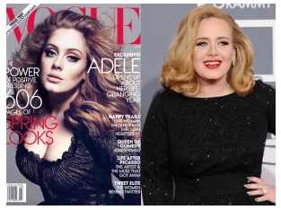 Photoshop for magazine cover and the real Adele