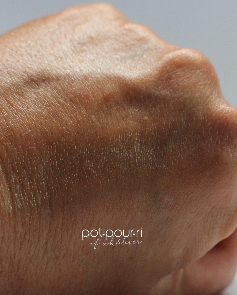 liquid collagen rubbed into skin