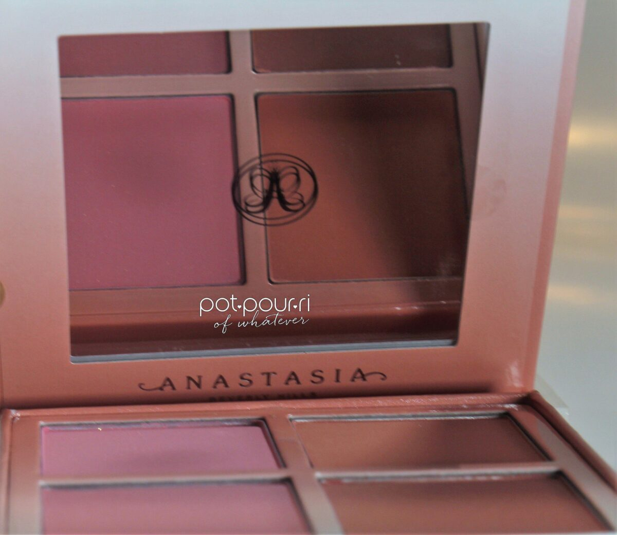 Anastasia-Radiant Blush Kit inside the palette