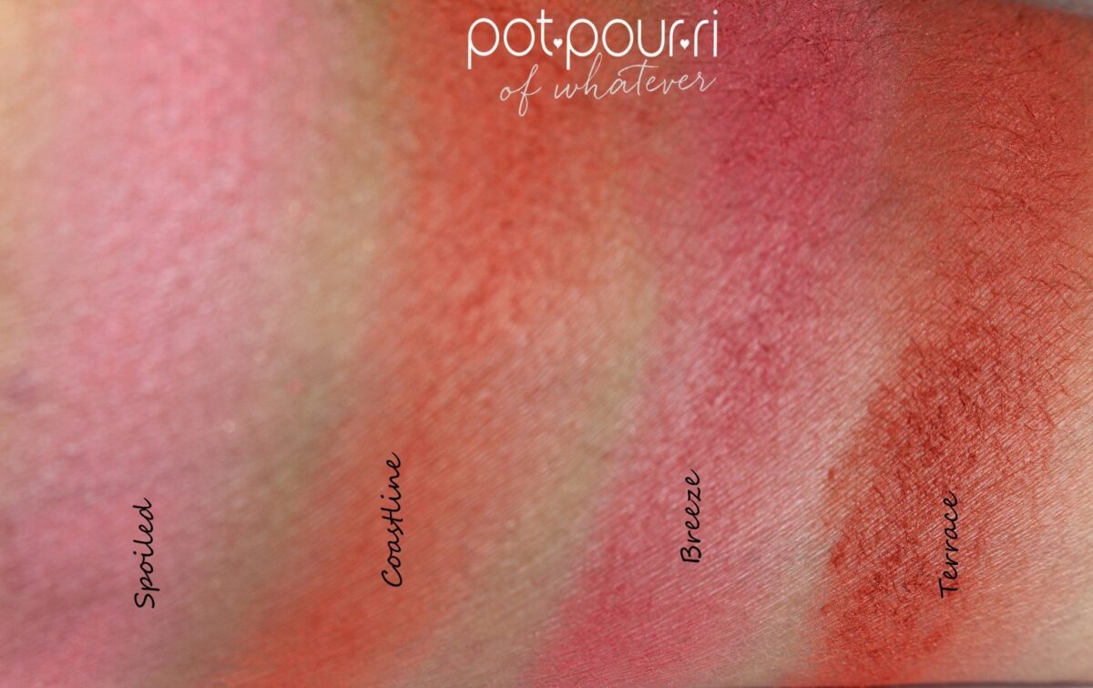 radiant blush kit swatches