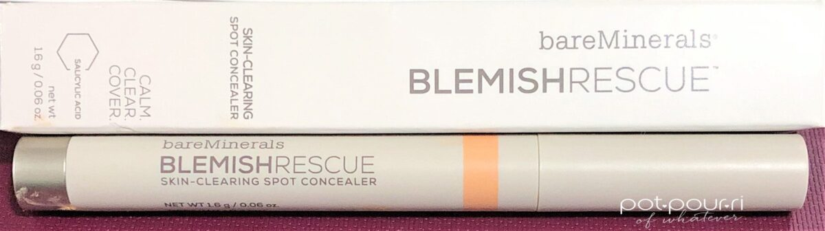 PACKAGING BOX AND STICK BARE MINERALS BLEMISH RESCUE CONCEALER STICK