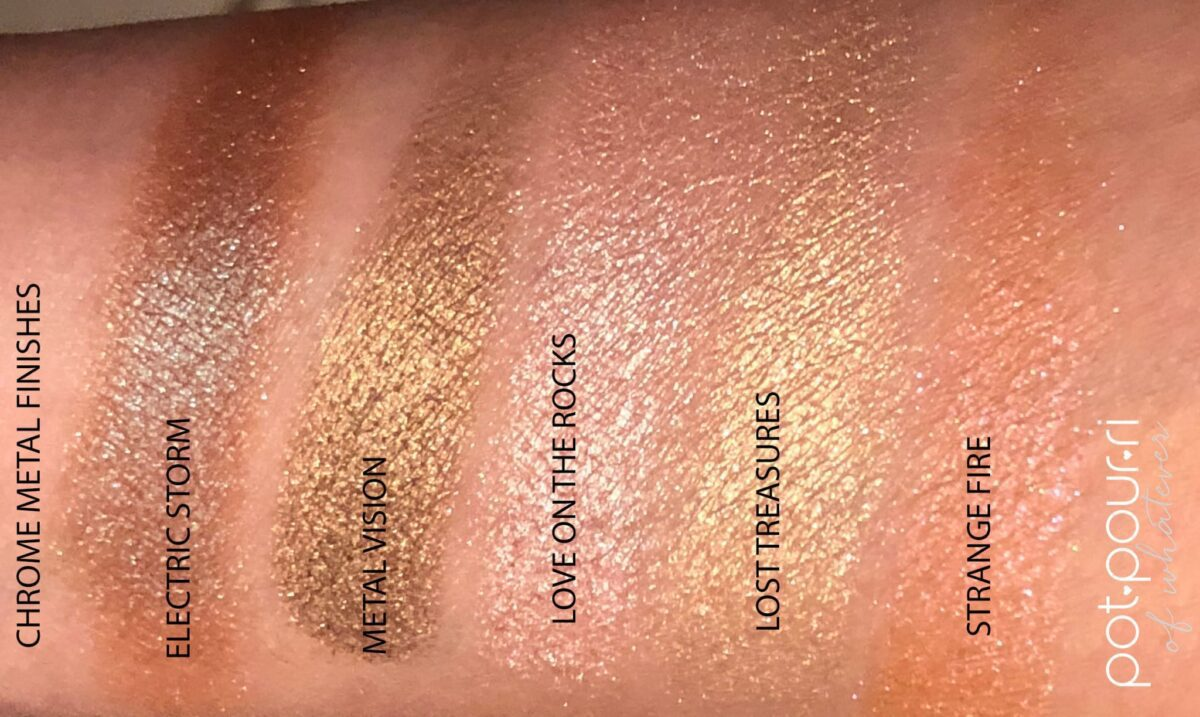 CHROME METAL SHADOW SWATCHES