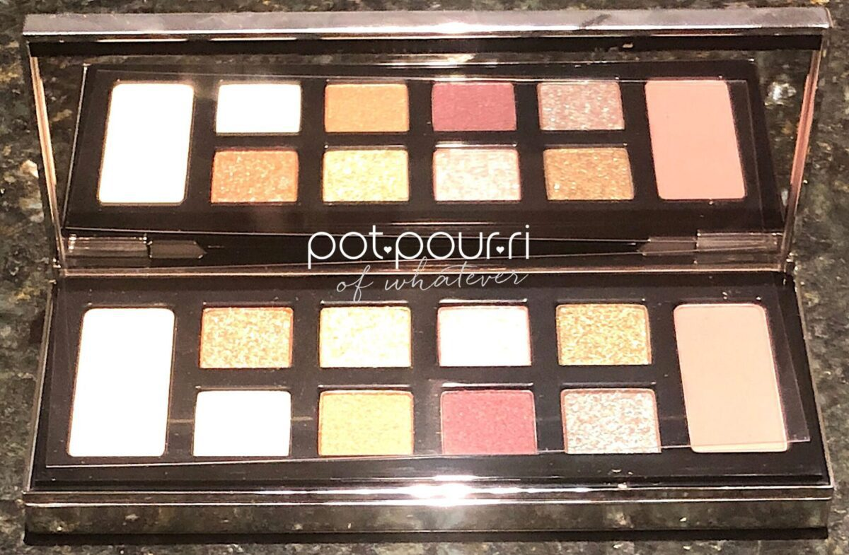 BOBBI BROWN MOLTEN DRAMA PALETTE HAS TEN SHADES AND A LARGE MIRROR INSIDE