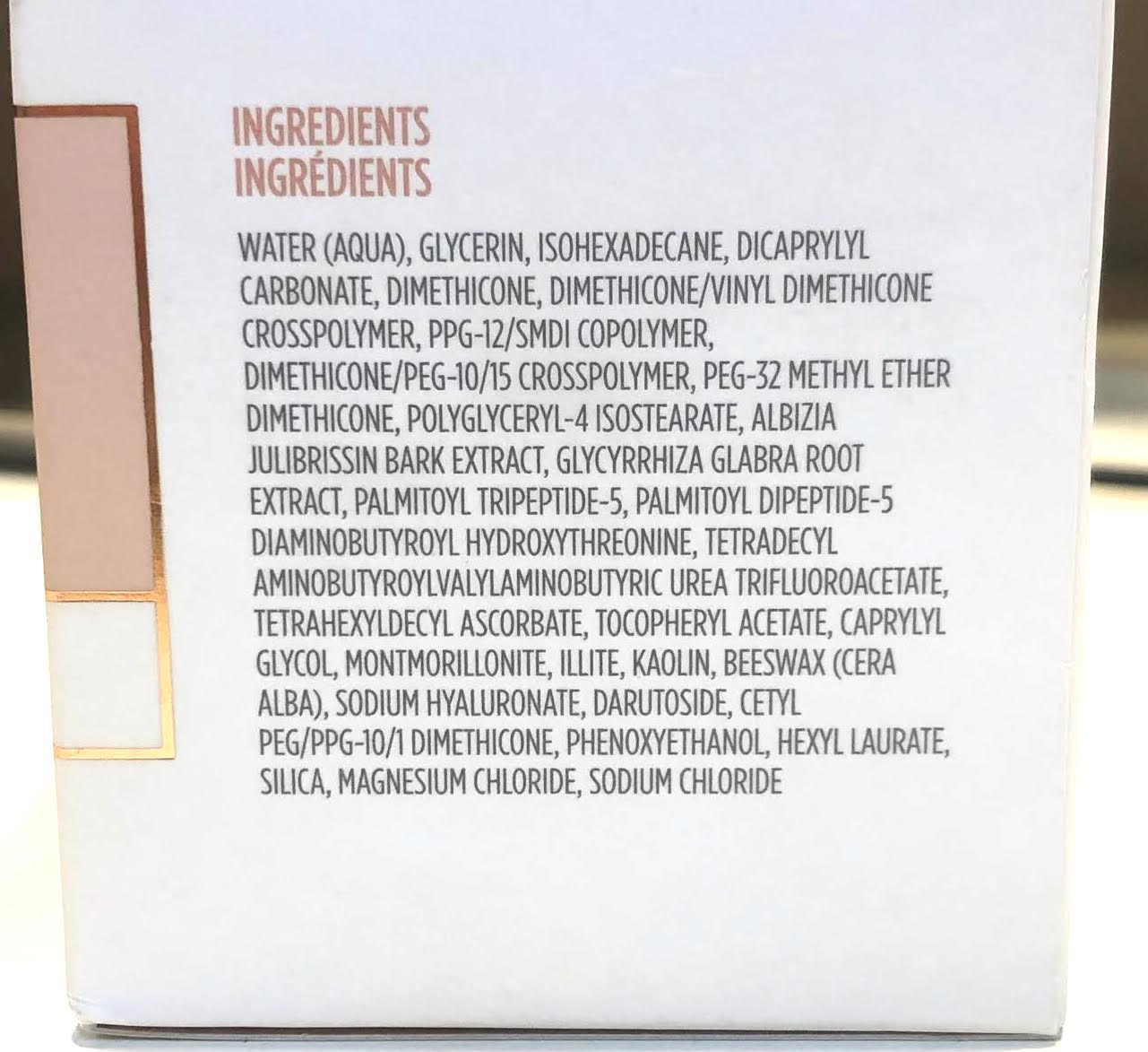 INGREDIENTS FOR THE BEHOLDER LIFTING EYE AND LID CREAM