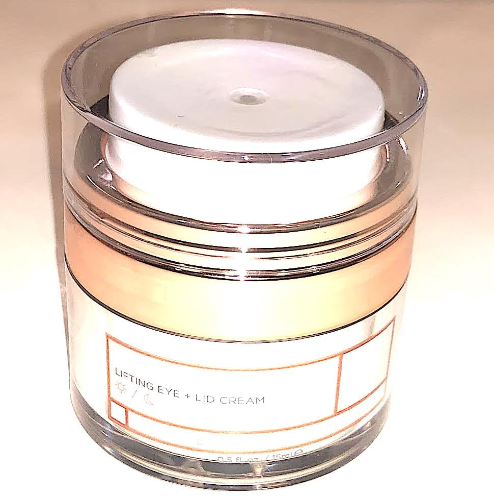 BEAUTYBIO BEHOLDER EYE CREAM LIFT AND LIDS JAR WITH LUCITE CLEAR TOP