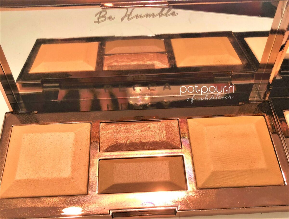 becca light palette be humble etched in mirror of the medium dark palette