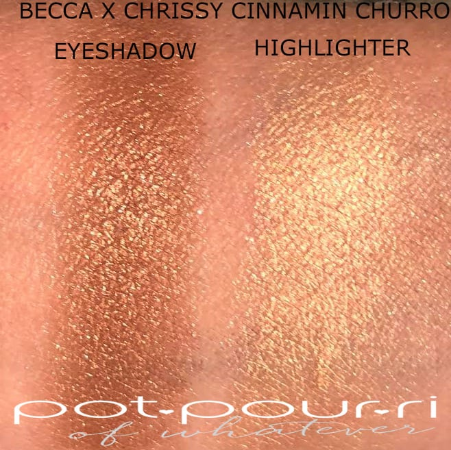 SWATCHES BECCA X CHRISSY KITCHEN GLOW KIT GLOW SOUFLE