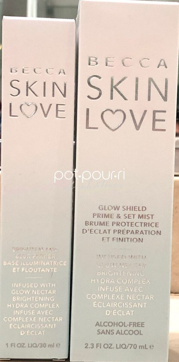 BECCA SKIN LOVE PRIME PREP SET BLUR PRIMER, MIST GUARD, PACKAGING OUTER BOXES