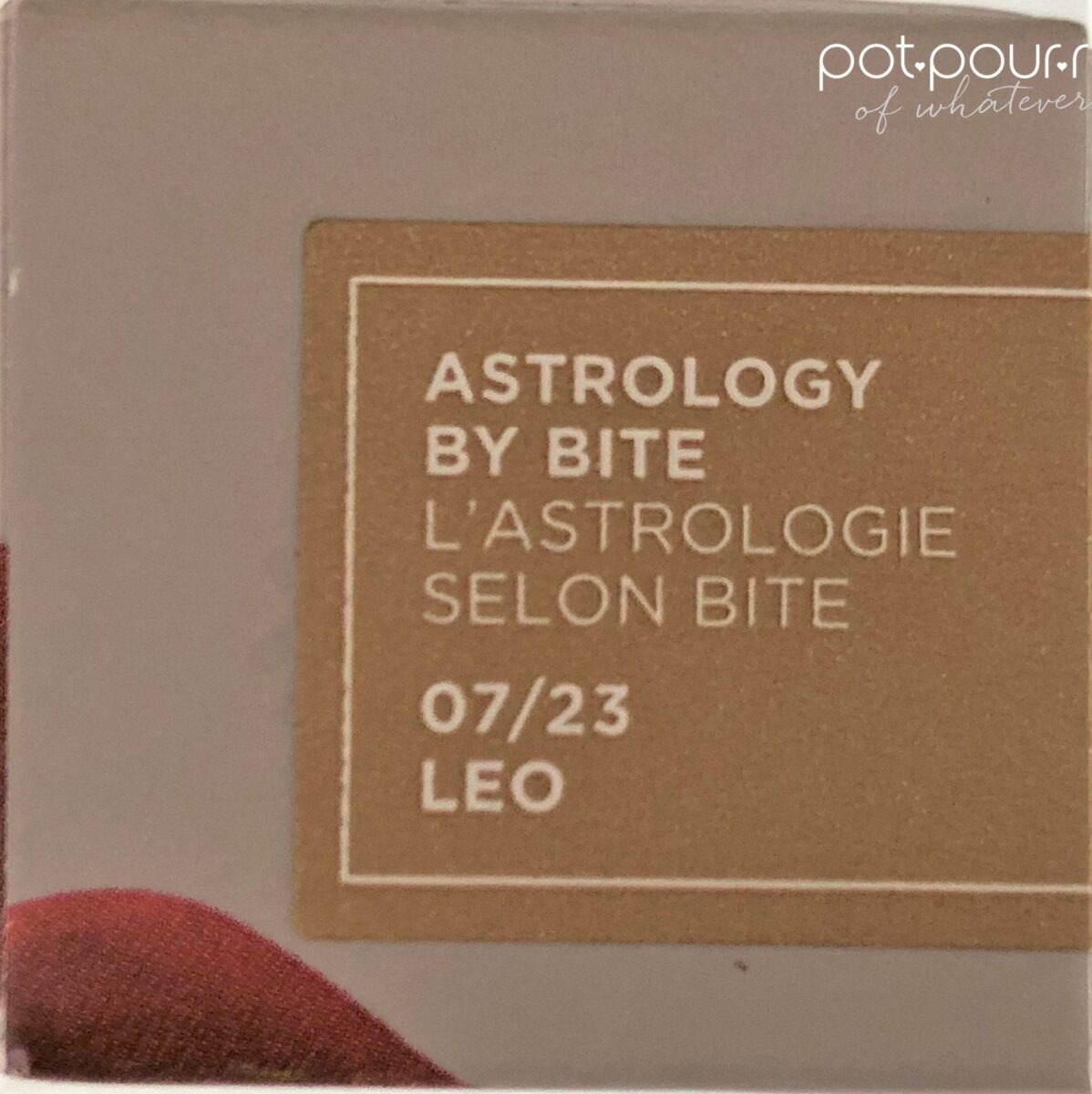PACKAGING BOX WITH LEO STICKER