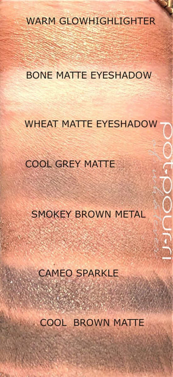 SWATCHES BOBBI BROWN LUXE CAMO CHEEK AND EYE PALETTE