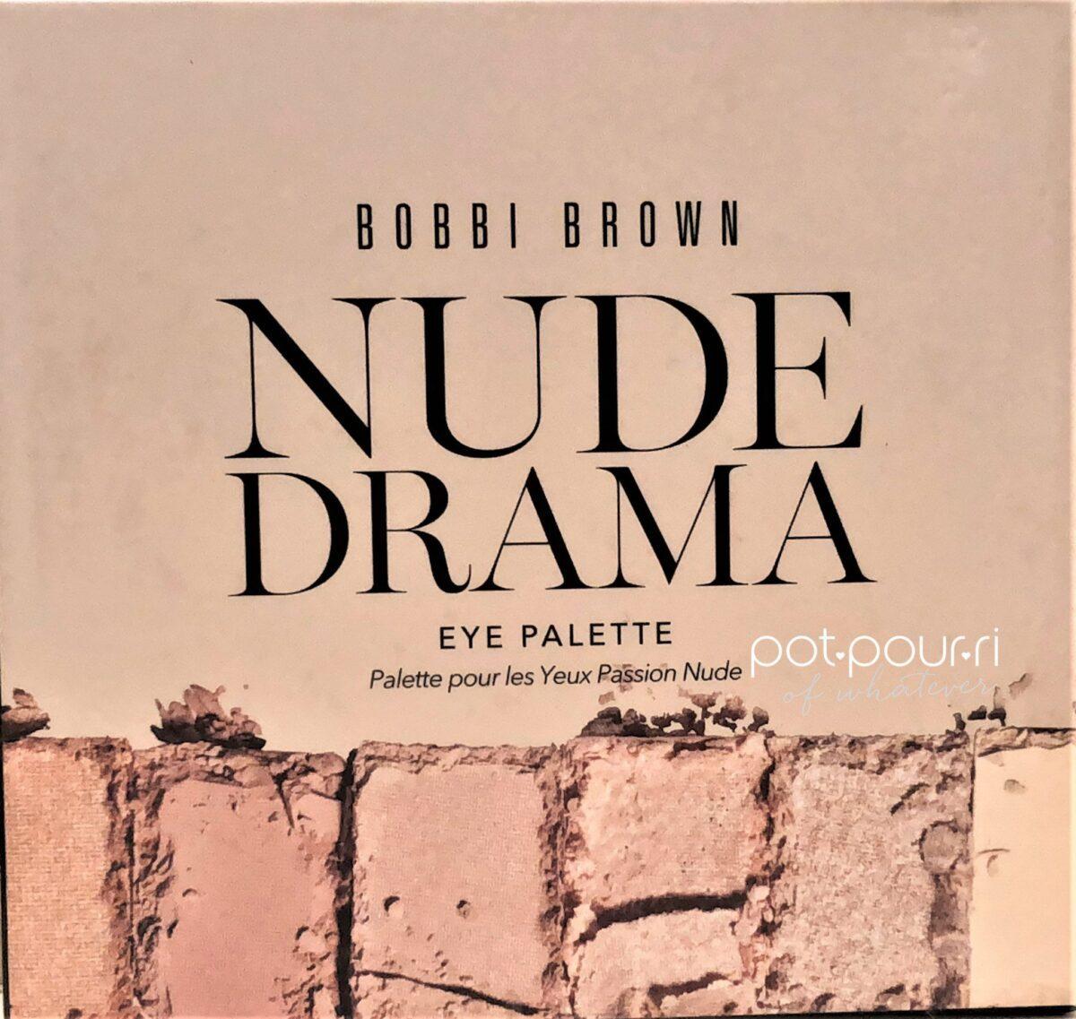 BOBBI BROWN NUDE DRAMA EYE PALETTE PACKAGING BOX
