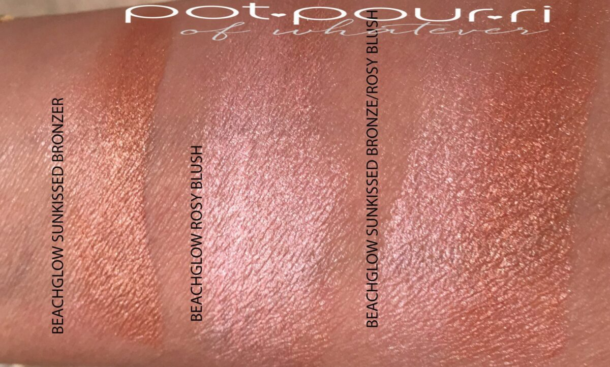 BY TERRY GLOW EXPERT DUO STICK BEACH GLOW SWATCHES