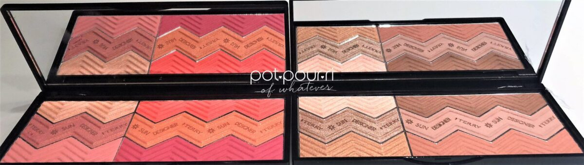 SUN DESIGNER PALETTES, RECTANGULAR SHAPED, WITH FULL WIDTH MIRROR
