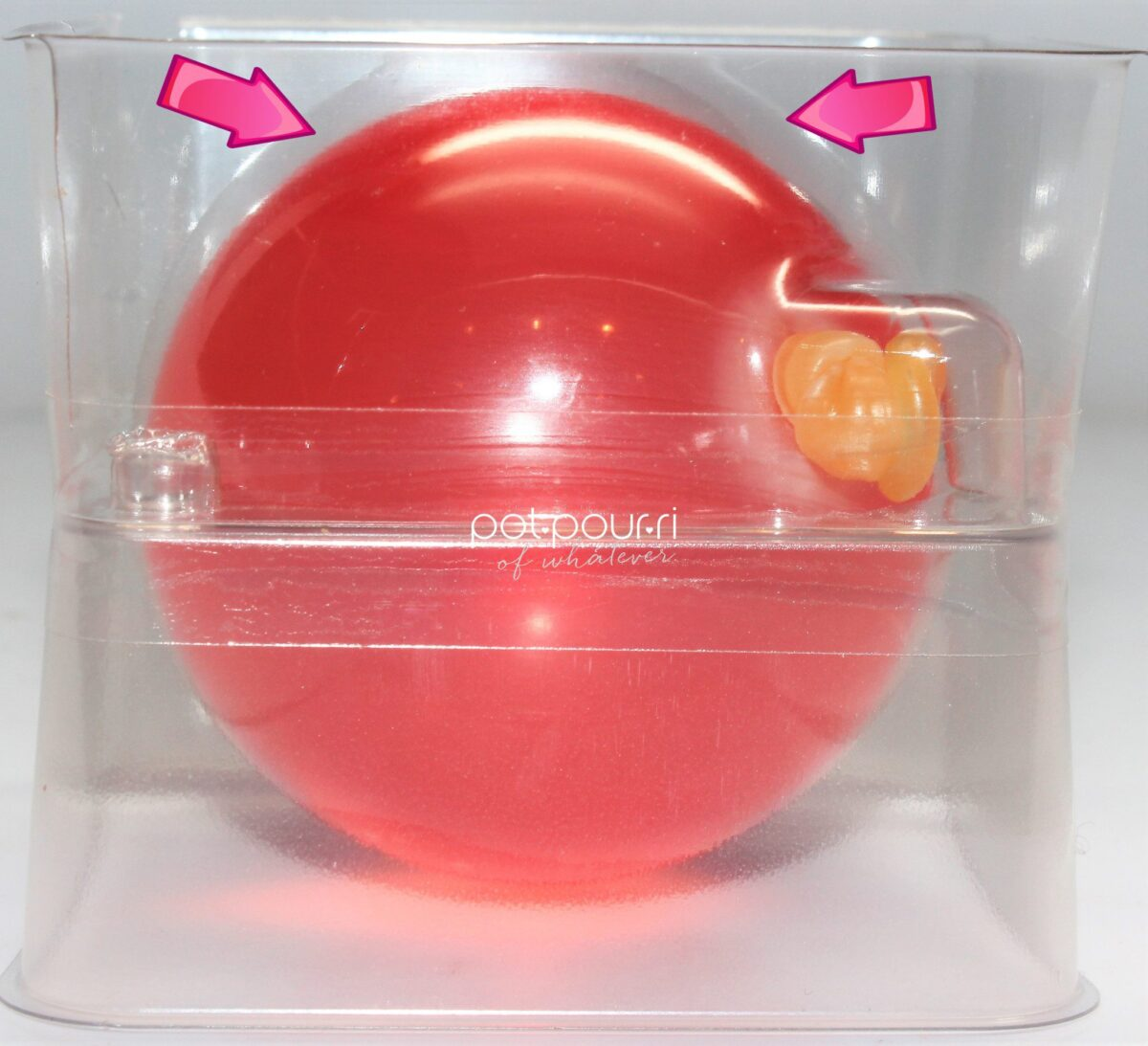 Jelly Ball is encased in a latex balloon seal