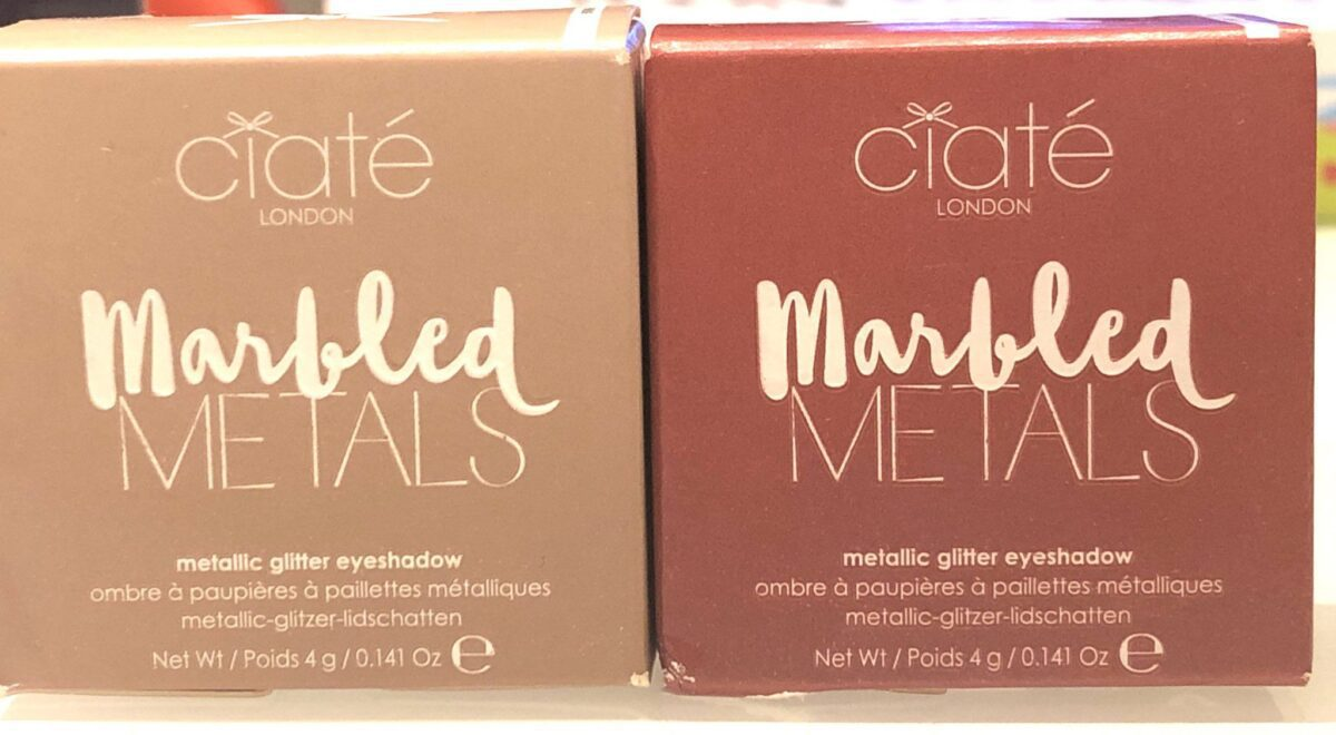CIATE MARBLED METALS EYESHADOWS OUTER BOXES