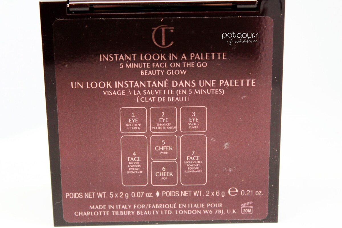 Charlotte-Tilbury-instant-look-to-go-limited-edition-steps-on-back-of-palette