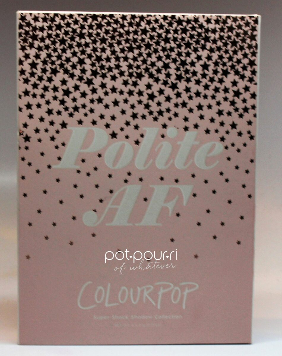 ColourPop Eyeshadow Collection packaging for Polite AF Eyeshadow Collection