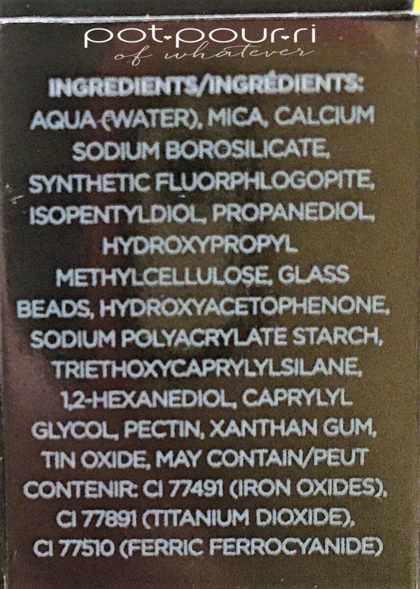 COVER FX SHIMMER VEIL INGREDIENTS