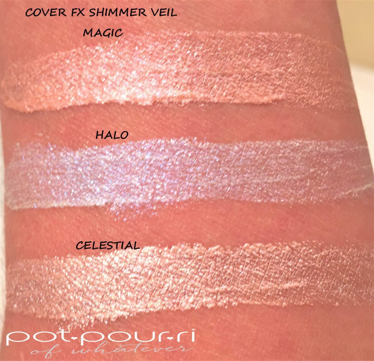 COVER FX SHIMMER VEIL SWATCHES